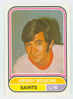 1975-76 OPC WHA Hockey Henry Boucha Minnesota Saints Near-Mint Plus
