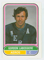 1975-76 OPC WHA Hockey Gordon Labossiere Houston Aeros Excellent to Excellent Plus
