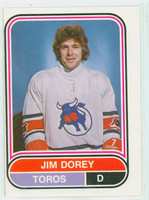 1975-76 OPC WHA Hockey Jim Dorey Toronto Toros Excellent to Excellent Plus