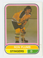 1975-76 OPC WHA Hockey Ron Plumb ROOKIE Cincinnati Stingers Near-Mint