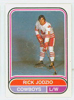 1975-76 OPC WHA Hockey Rick Jodzio Calgary Cowboys Near-Mint Plus