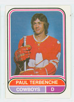 1975-76 OPC WHA Hockey Paul Terbenche Calgary Cowboys Near-Mint