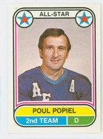 1975-76 OPC WHA Hockey Poul Popiel Houston Aeros Near-Mint