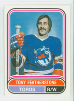 1975-76 OPC WHA Hockey Tony Featherstone Toronto Toros Near-Mint Plus