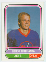 1975-76 OPC WHA Hockey Heikki Riihiranta Winnepeg Jets Near-Mint