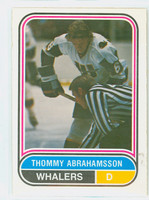 1975-76 OPC WHA Hockey Thommy Abrahamsson ROOKIE New England Whalers Near-Mint