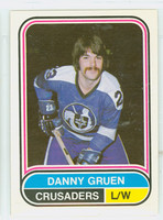 1975-76 OPC WHA Hockey Danny Gruen Cleveland Crusaders Near-Mint