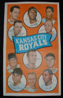 1969 Topps Team Posters 7 Royals Team Excellent