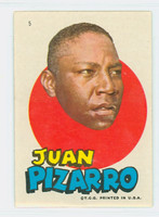 1967 Topps Test Pirates 5 Juan Pizarro Pittsburgh Pirates Near-Mint Plus