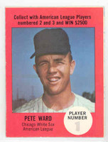 1968 Atlantic Oil Pete Ward Chicago White Sox Excellent to Mint