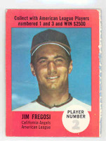 1968 Atlantic Oil Jim Fregosi California Angels Excellent