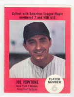 1968 Atlantic Oil Joe Pepitone New York Yankees Excellent