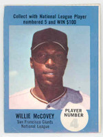 1968 Atlantic Oil Willie McCovey San Francisco Giants Excellent