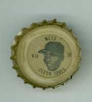 1967 Coke Caps Mets 24 Cleon Jones New York Mets Excellent