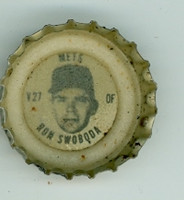 1967 Coke Caps Mets 27 Ron Swoboda New York Mets Excellent to Excellent Plus