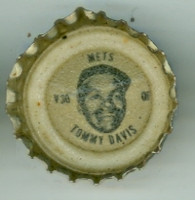 1967 Coke Caps Mets 30 Tommy Davis New York Mets Excellent