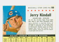 1961 Post Baseball 199 b Jerry Kindall COMP  Chicago Cubs Fair to Good