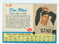 1962 Post Baseball 23 Don Mossi Detroit Tigers Excellent to Mint