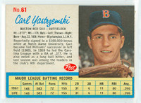 1962 Post Baseball 61 Carl Yastrzemski Single Print Boston Red Sox Excellent
