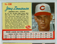 1962 Post Baseball 130 Jerry Zimmerman Cincinnati Reds Excellent