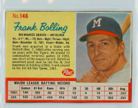 1962 Post Baseball 146 Frank Bolling Milwaukee Braves Excellent to Mint