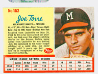 1962 Post Baseball 152 Joe Torre Milwaukee Braves Excellent to Mint