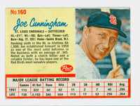 1962 Post Baseball 160 Joe Cunningham St. Louis Cardinals Very Good to Excellent