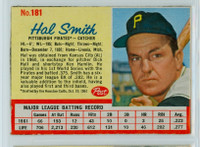1962 Post Baseball 181 Hal W. Smith Pittsburgh Pirates Excellent