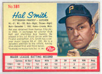 1962 Post Baseball 181 Hal W. Smith Pittsburgh Pirates Excellent to Mint