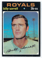 1971 Topps Baseball 17 Billy Sorrell Kansas City Royals Excellent to Mint