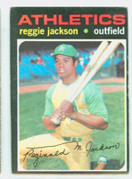1971 Topps Baseball 20 Reggie Jackson Oakland Athletics Very Good