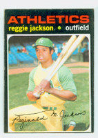 1971 Topps Baseball 20 Reggie Jackson Oakland Athletics Very Good to Excellent