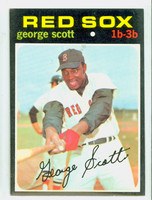 1971 Topps Baseball 9 George Scott Boston Red Sox Excellent to Excellent Plus