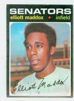 1971 Topps Baseball 11 Elliott Maddox Washington Senators Excellent to Excellent Plus