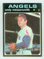 1971 Topps Baseball 15 Andy Messersmith California Angels Excellent to Excellent Plus