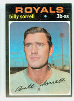 1971 Topps Baseball 17 Billy Sorrell Kansas City Royals Excellent to Excellent Plus