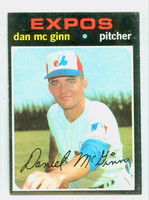 1971 Topps Baseball 21 Dan McGinn Montreal Expos Excellent to Excellent Plus