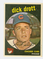 1959 Topps Baseball 15 Dick Drott Chicago Cubs Excellent