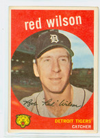 1959 Topps Baseball 24 Red Wilson Detroit Tigers Excellent