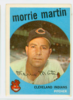 1959 Topps Baseball 38 Morrie Martin Cleveland Indians Excellent