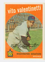 1959 Topps Baseball 44 Vito Valentinetti Washington Senators Excellent