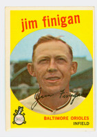 1959 Topps Baseball 47 Jim Finigan Baltimore Orioles Excellent