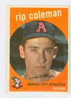 1959 Topps Baseball 51 Rip Coleman Kansas City Athletics Excellent