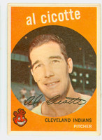 1959 Topps Baseball 57 Al Cicotte Cleveland Indians Excellent