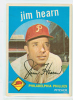 1959 Topps Baseball 63 Jim Hearn Philadelphia Phillies Excellent