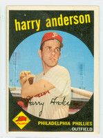 1959 Topps Baseball 85 Harry Anderson Philadelphia Phillies Excellent