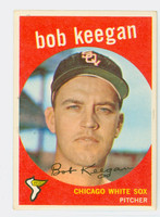 1959 Topps Baseball 86 Bob Keegan Chicago White Sox Excellent
