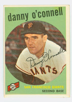 1959 Topps Baseball 87 Danny O' Connell San Francisco Giants Excellent