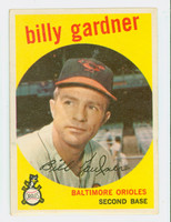 1959 Topps Baseball 89 Billy Gardner Baltimore Orioles Excellent