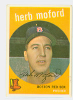 1959 Topps Baseball 91 Herb Moford Boston Red Sox Excellent